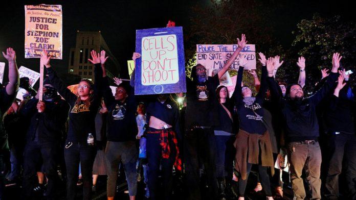 protest over black lives matter